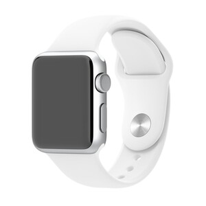 Купить Ремешок Apple 38mm White Sport Band (MJ4E2) S/M&M/L для Apple Watch Series 1/2