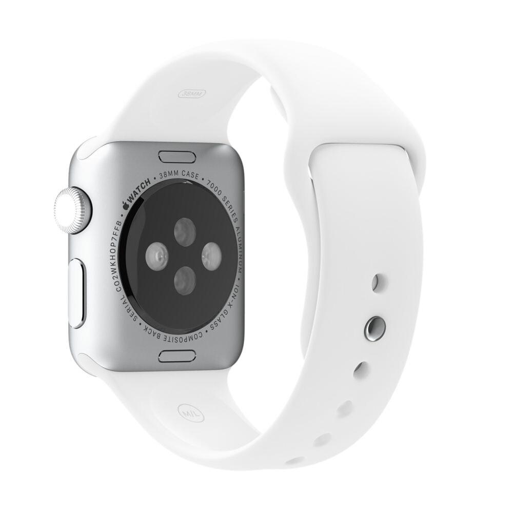 Ремешок Apple 38mm White Sport Band (MJ4E2) для Apple Watch Series 1/2