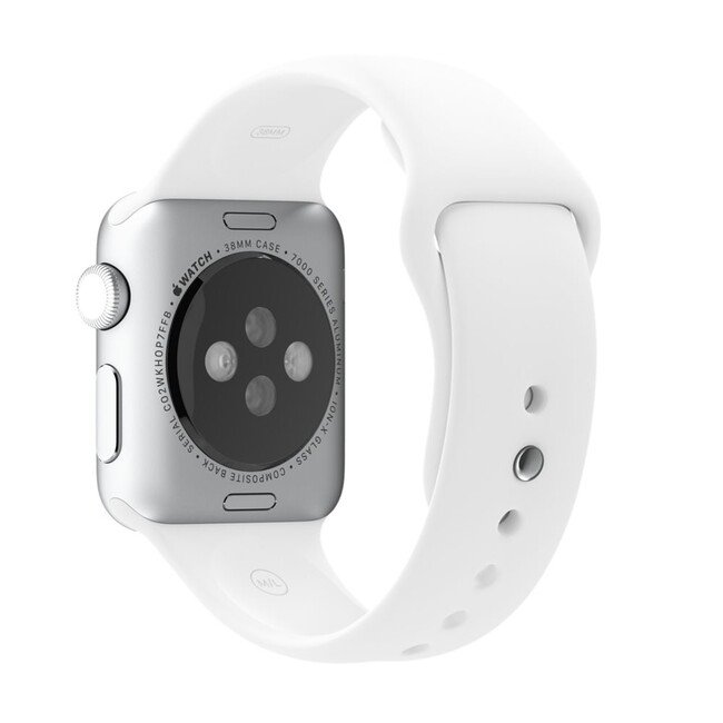 Ремешок Apple 38mm White Sport Band (MJ4E2) для Apple Watch