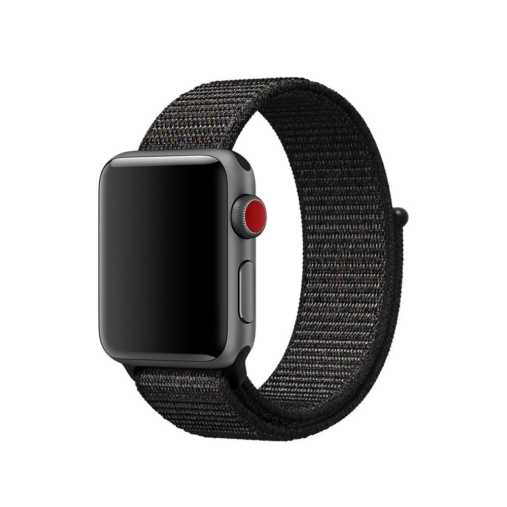 Ремешок iLoungeMax Sport Loop Black для Apple Watch 40mm   38mm SE   6   5   4   3   2   1 OEM