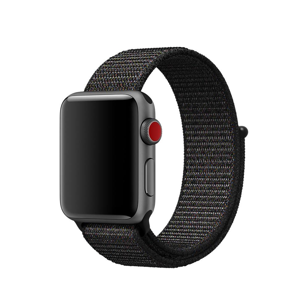 Купить Ремешок oneLounge Sport Loop Black для Apple Watch 40mm | 38mm SE | 6 | 5 | 4 | 3 | 2 | 1 OEM