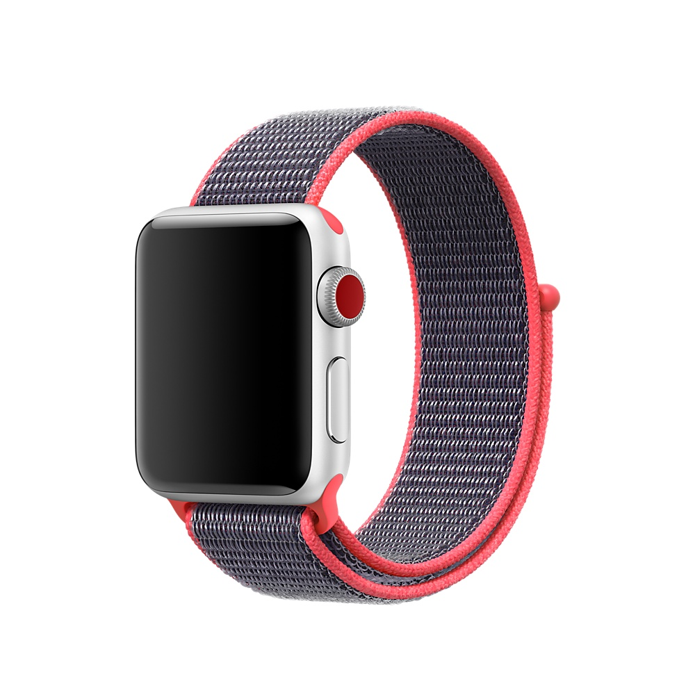Купить Ремешок oneLounge Sport Loop Electric Pink для Apple Watch 40mm | 38mm SE | 6 | 5 | 4 | 3 | 2 | 1 OEM