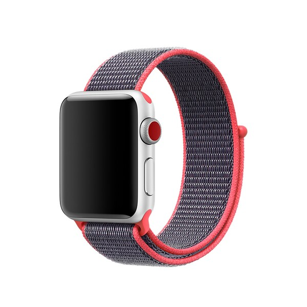 Ремешок iLoungeMax Sport Loop Electric Pink для Apple Watch 40mm | 38mm SE | 6 | 5 | 4 | 3 | 2 | 1 OEM