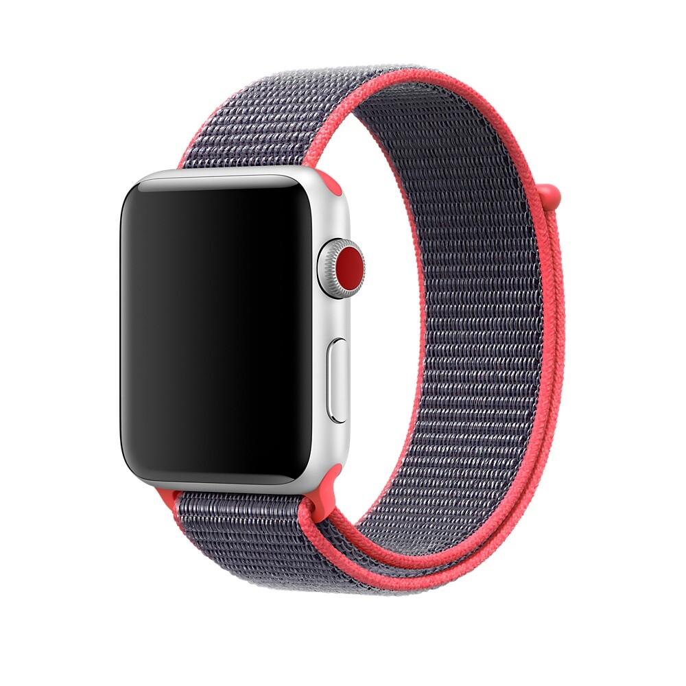 Ремешок oneLounge Sport Loop Electric Pink для Apple Watch 42mm | 44mm SE | 6 | 5 | 4 | 3 | 2 | 1 OEM