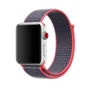Купить Ремешок oneLounge Sport Loop Electric Pink для Apple Watch 42mm/44mm Series 1/2/3/4 (Лучшая копия Apple)