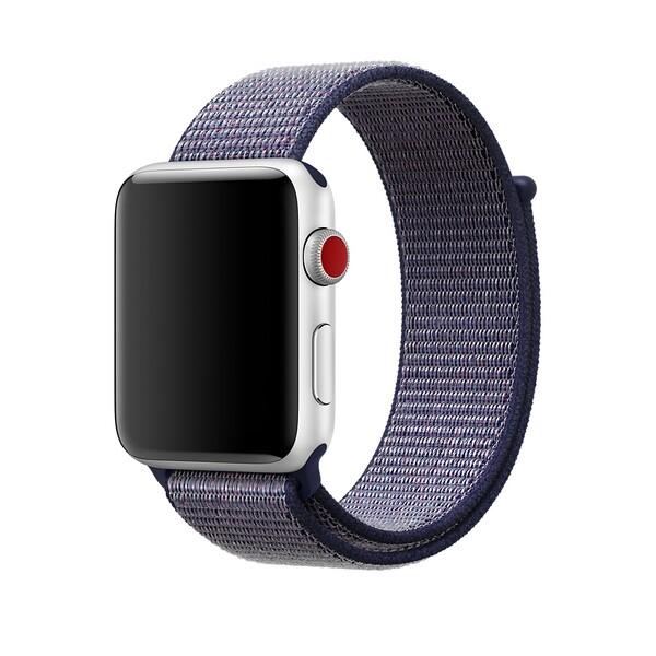 Ремешок iLoungeMax Sport Loop Midnight Blue для Apple Watch 42mm   44mm SE   6   5   4   3   2   1 OEM