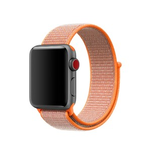 Купить Ремешок Apple Sport Loop Spicy Orange (MQW12) для Apple Watch 38mm Series 1/2/3