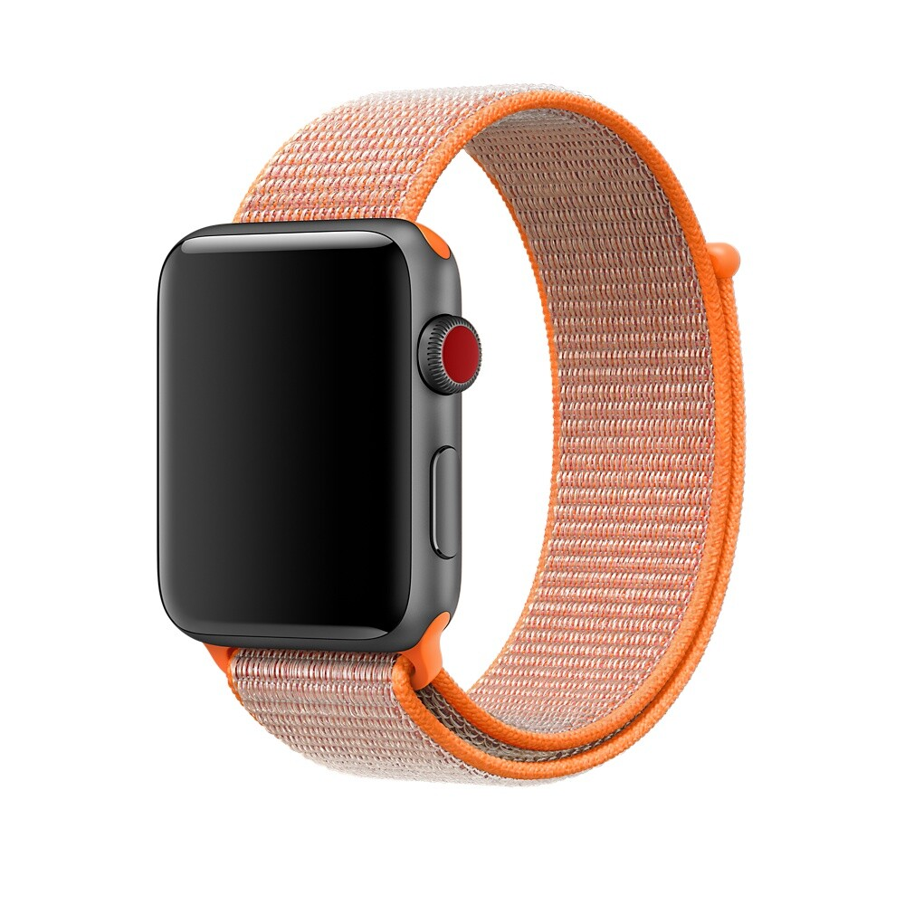 Ремешок oneLounge Sport Loop Spicy Orange для Apple Watch 42mm | 44mm SE | 6 | 5 | 4 | 3 | 2 | 1 OEM