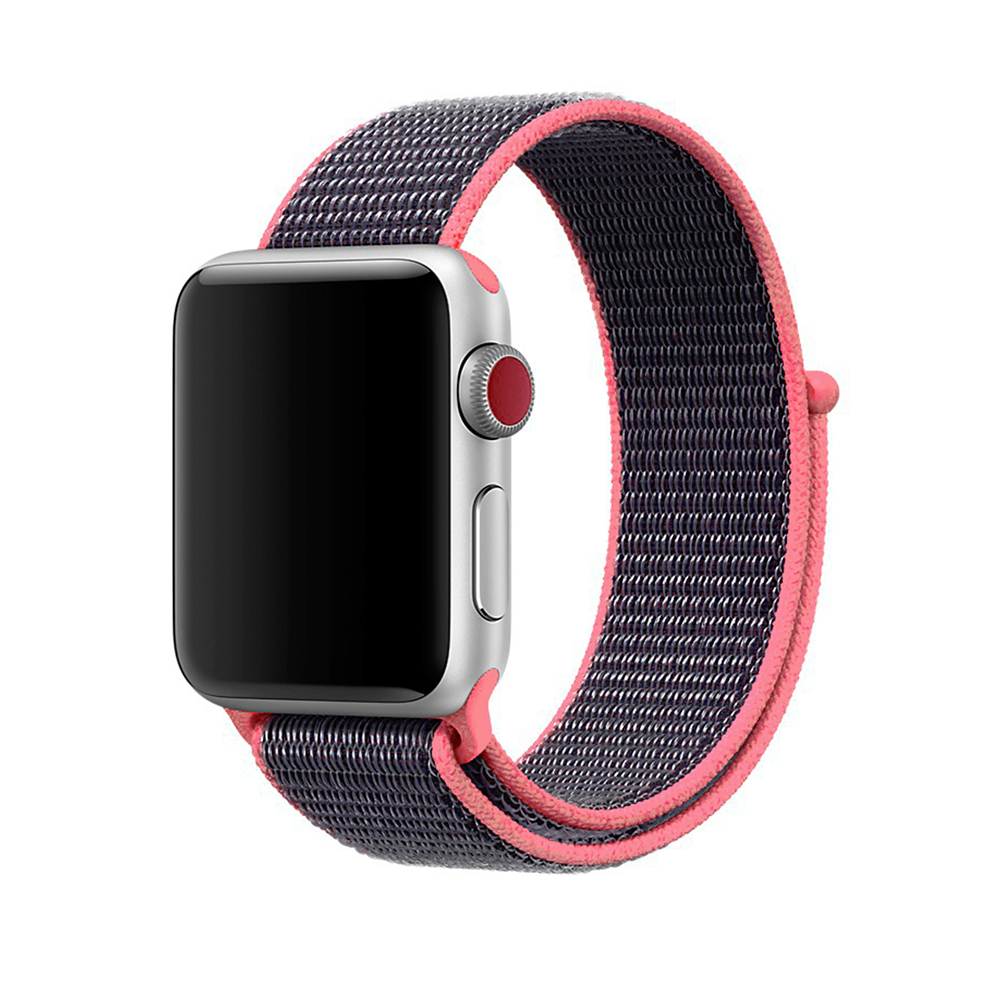 Купить Ремешок oneLounge Sport Loop Spicy Pink для Apple Watch 42mm | 44mm SE | 6 | 5 | 4 | 3 | 2 | 1 OEM