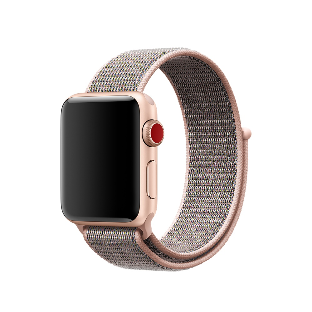 Купить Ремешок oneLounge Sport Loop Spicy Pink Sand для Apple Watch 40mm | 38mm SE | 6 | 5 | 4 | 3 | 2 | 1 OEM