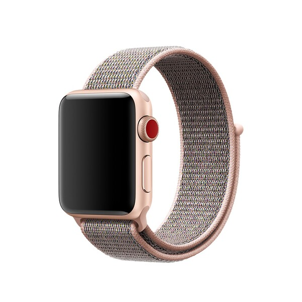 Ремешок iLoungeMax Sport Loop Spicy Pink Sand для Apple Watch 40mm | 38mm SE | 6 | 5 | 4 | 3 | 2 | 1 OEM