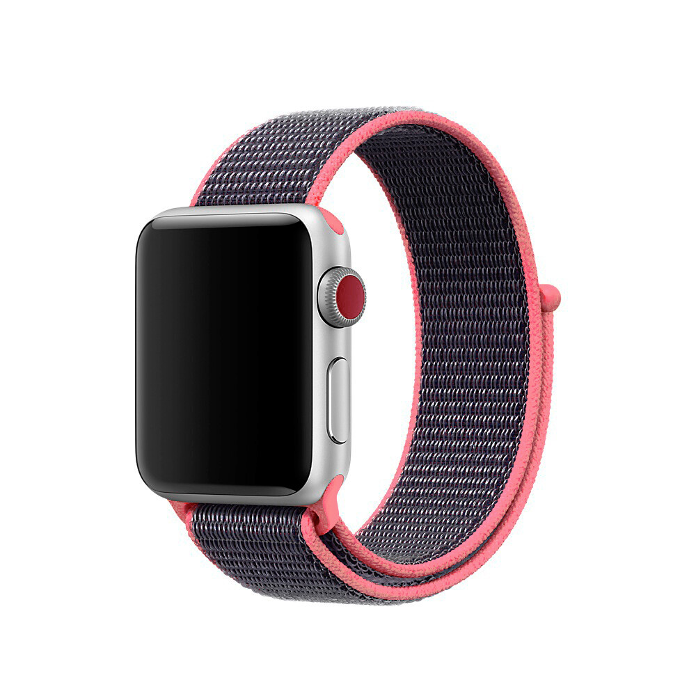 Ремешок iLoungeMax Sport Loop Spicy Pink для Apple Watch 40mm | 38mm SE | 6 | 5 | 4 | 3 | 2 | 1 OEM