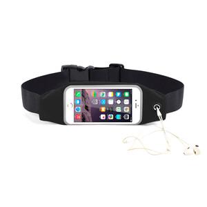 "Купить Черный спортивный чехол-сумка на пояс для iPhone X/XS/8 Plus/7 Plus/6s Plus/6 Plus & смартфонов до 5.8"""