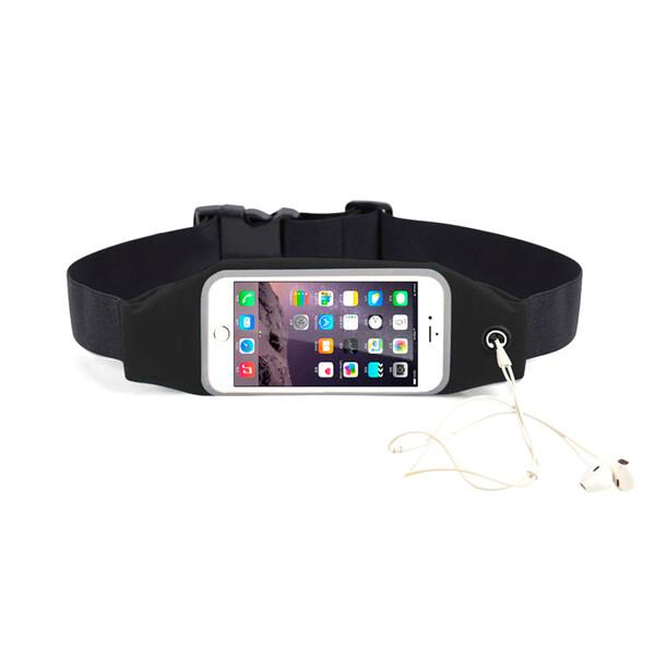 "Черный спортивный чехол-сумка на пояс iLoungeMax для iPhone X | XS | 8 Plus | 7 Plus | 6s Plus | 6 Plus & смартфонов до 5.8"""