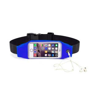 """Купить Синий спортивный чехол-сумка на пояс oneLounge для iPhone X/XS/8 Plus/7 Plus/6s Plus/6 Plus & смартфонов до 5.8"""""""