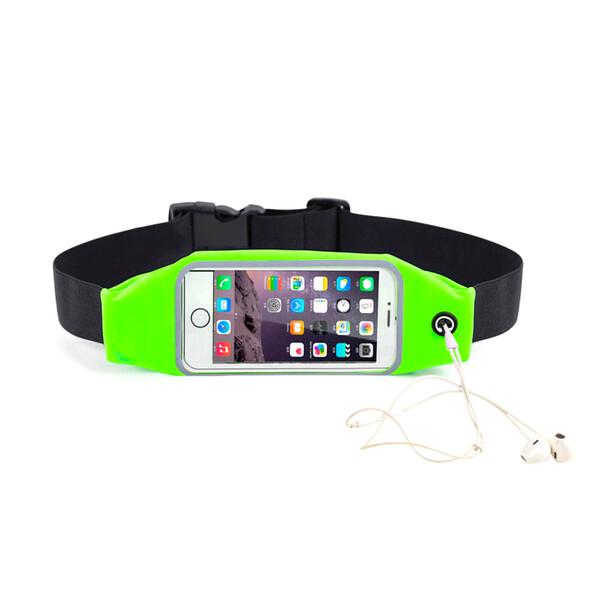 "Салатовый спортивный чехол-сумка на пояс iLoungeMax для iPhone X | XS | 8 Plus | 7 Plus | 6s Plus | 6 Plus & смартфонов до 5.7"""