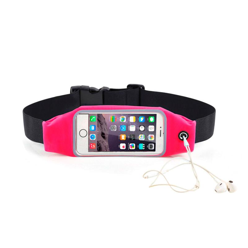 """Розовый спортивный чехол-сумка на пояс oneLounge для iPhone 8/7/6/5/4 & смартфонов до 5.2"""""""