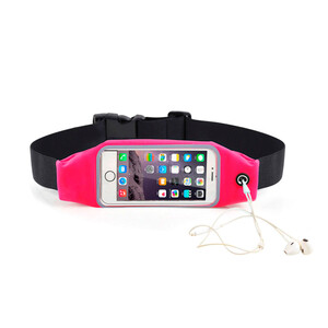 """Купить Розовый спортивный чехол-сумка на пояс для iPhone 8/7/6/5/4 & смартфонов до 5.2"""""""