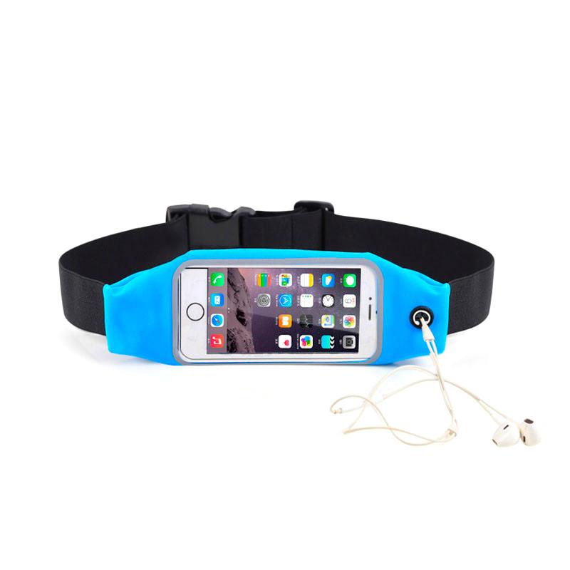 "Купить Голубой спортивный чехол-сумка на пояс oneLounge для iPhone X | XS | 8 Plus | 7 Plus | 6s Plus | 6 Plus & смартфонов до 5.8"""