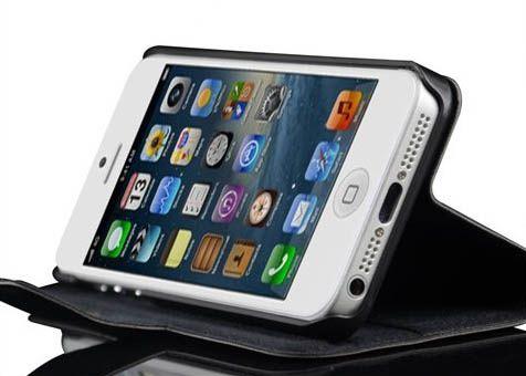 Кожаный чехол-подставка Standalone для iPhone 5/5S/SE