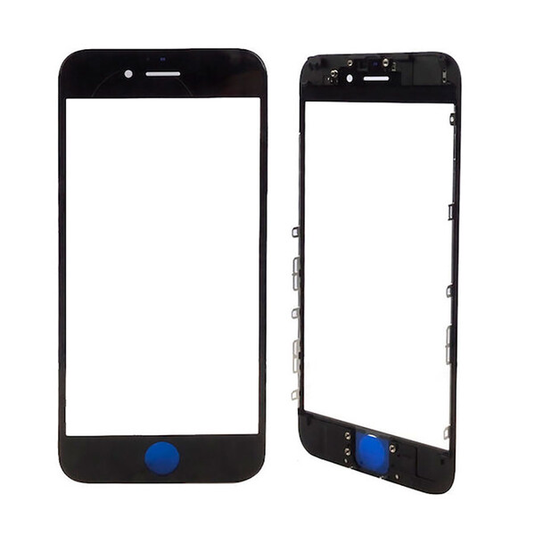 Стекло с рамкой и ОСА пленкой (Black) для iPhone 7