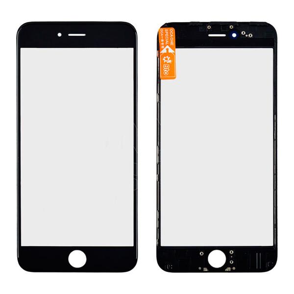 Стекло с рамкой и ОСА пленкой (Black) для iPhone 6 Plus