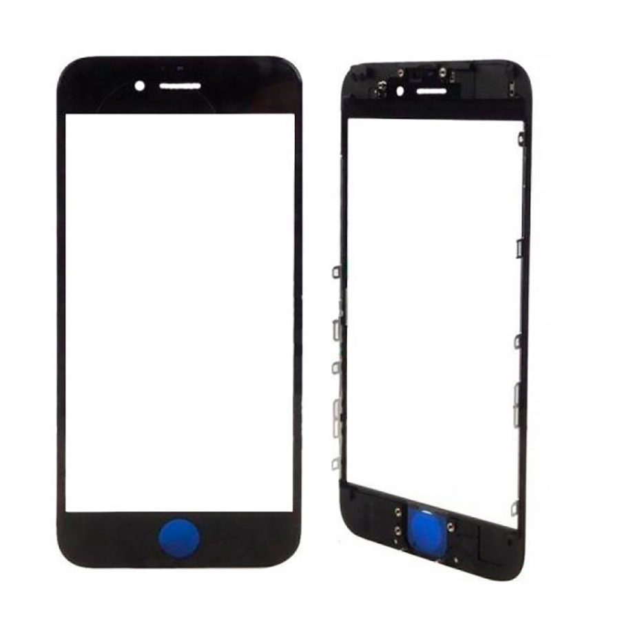 Купить Стекло с рамкой и ОСА пленкой (Black) для iPhone 7 Plus