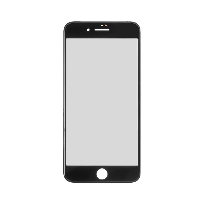 Купить Стекло с рамкой и ОСА пленкой (Black) для iPhone 8 Plus