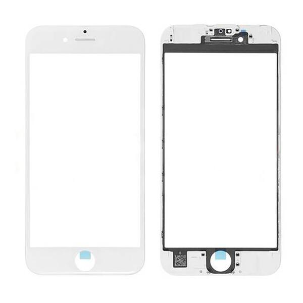 Стекло с рамкой и ОСА пленкой (White) для iPhone 6