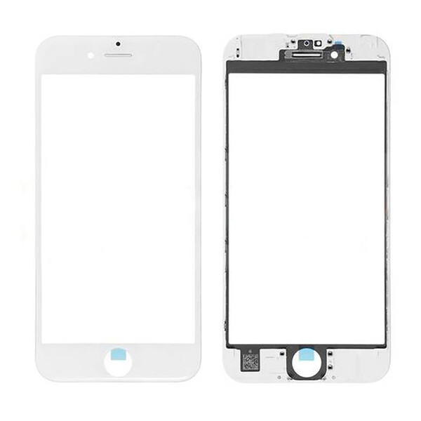 Стекло с рамкой и ОСА пленкой (White) для iPhone 6 Plus