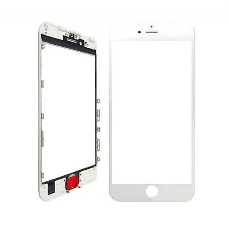Стекло с рамкой и ОСА пленкой (White) для iPhone 7 Plus