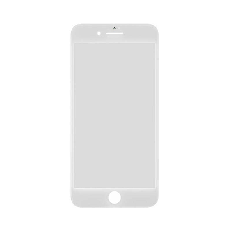 Стекло с рамкой и ОСА пленкой (White) для iPhone 8 Plus