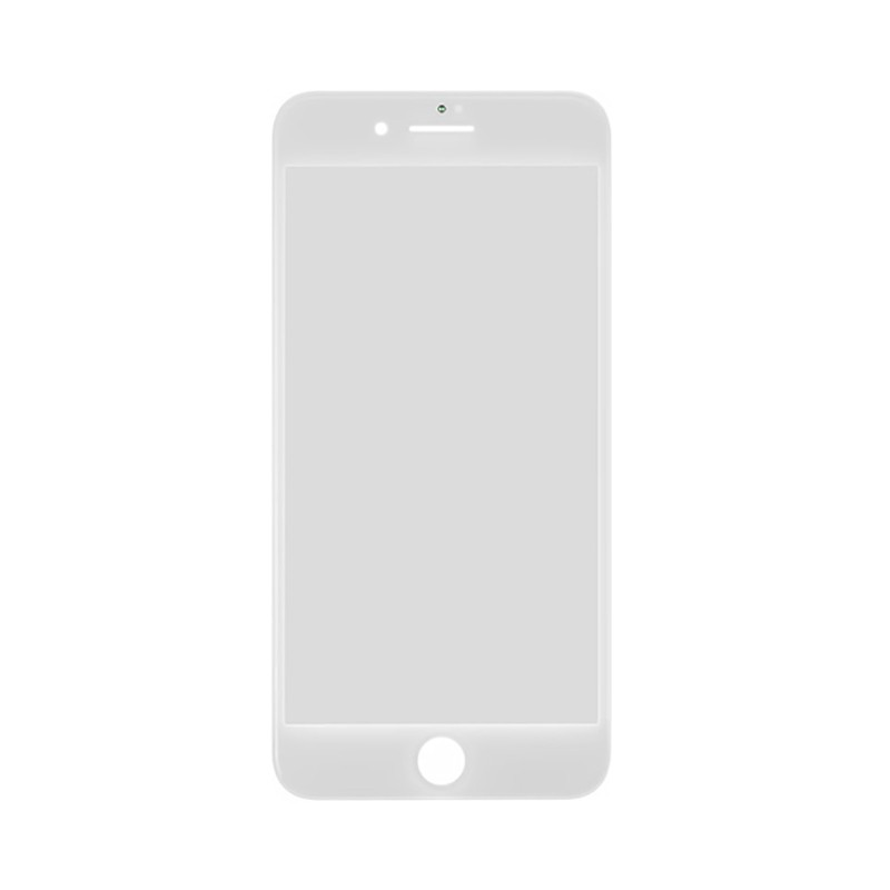 Купить Стекло с рамкой и ОСА пленкой (White) для iPhone 8 Plus
