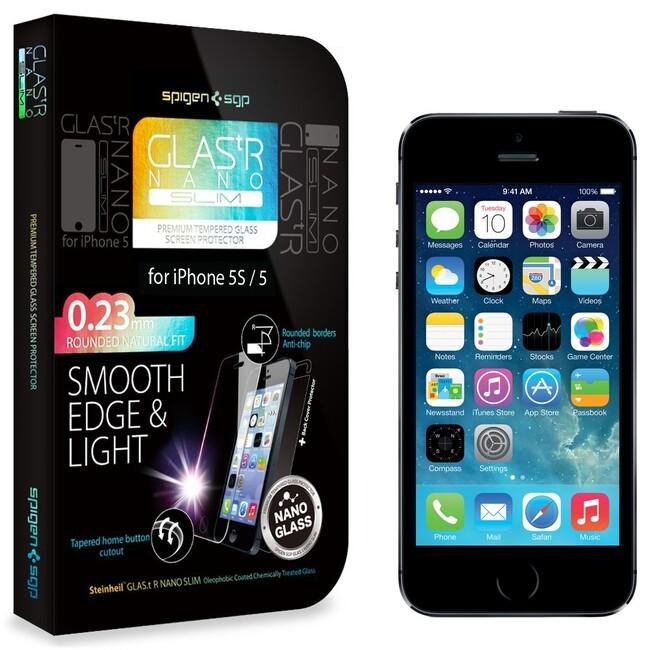 Защитное стекло SGP GLAS.tR NANO SLIM для iPhone 5/5S/SE/5C