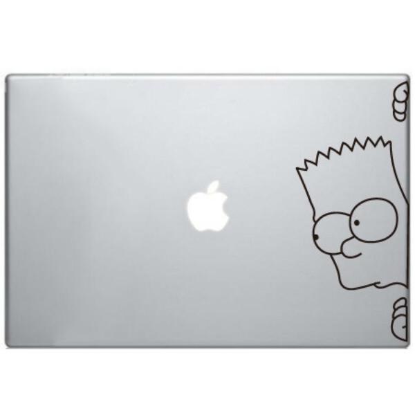 Наклейка Барт Симпсон для MacBook