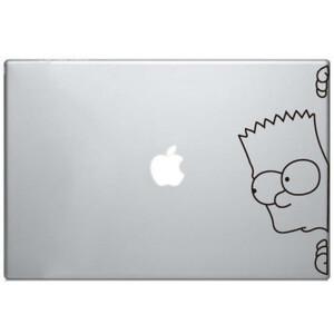 Купить Наклейка Барт Симпсон для MacBook
