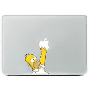 Купить Наклейка Гомер Симпсон для MacBook