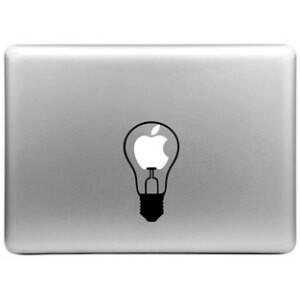 Наклейка Лампочка для MacBook