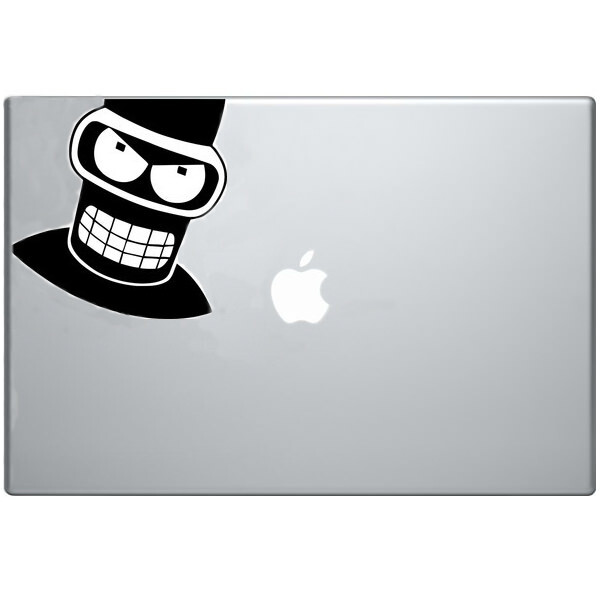 Наклейка Злой Бендер для MacBook