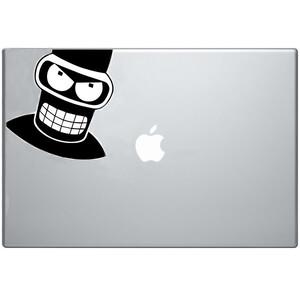 Купить Наклейка Злой Бендер для MacBook