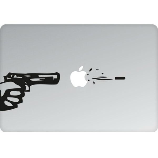 Наклейка Пуля на вылет для MacBook