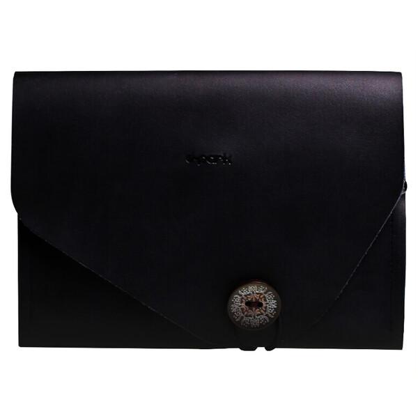 Чехол d-park Envelope Black из натуральной кожи для iPad mini 5 | 4 | 3 | 2