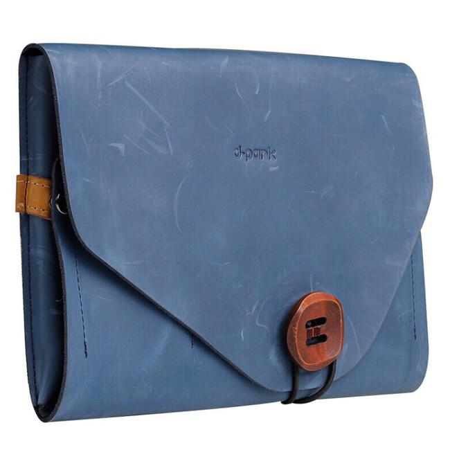 Чехол d-park Envelope Blue из натуральной кожи для iPad mini 4/3/2