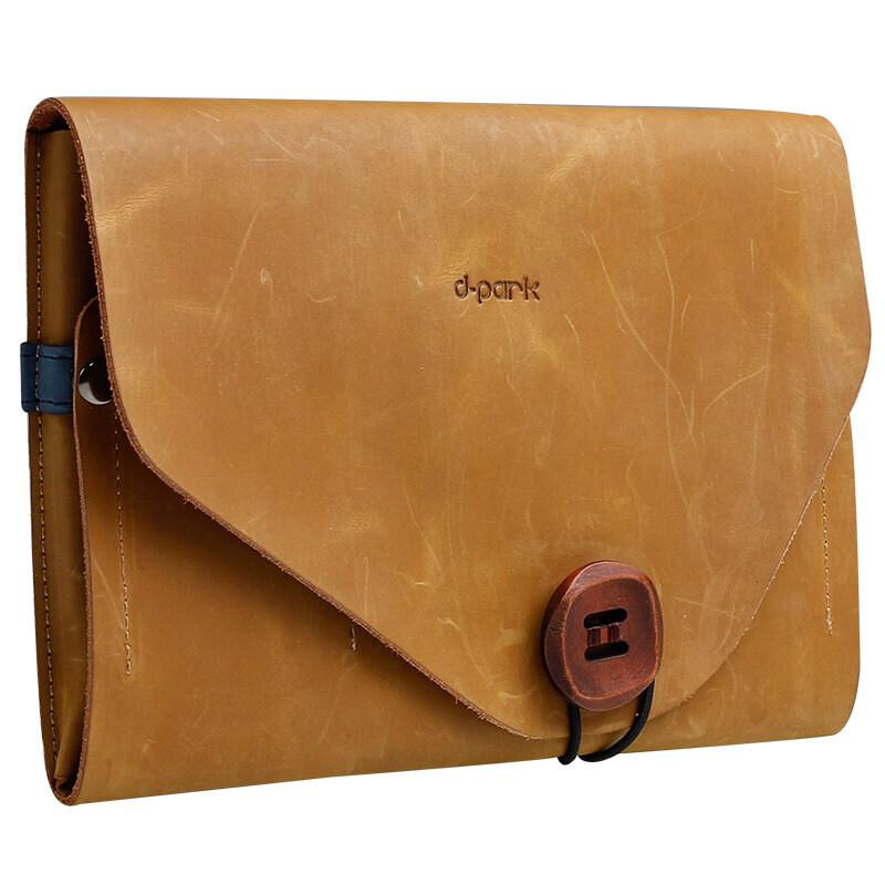 Чехол d-park Envelope Khaki из натуральной кожи для iPad mini 4/3/2
