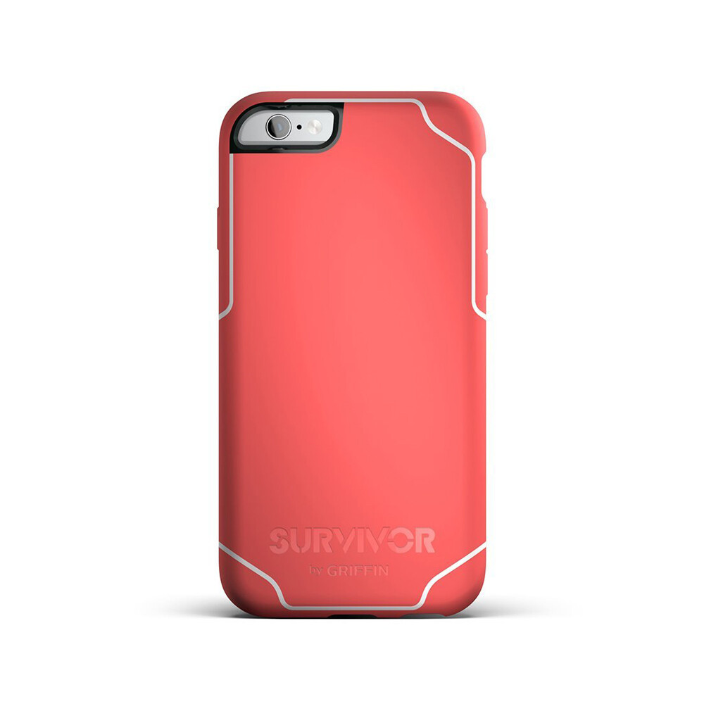 Чехол Griffin Survivor Journey Coral/White для iPhone 6/6s