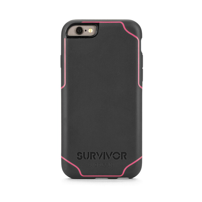 Чехол Griffin Survivor Journey Grey/Dark Pink для iPhone 6/6s