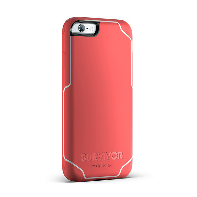 Чехол Griffin Survivor Journey Coral/White для iPhone 6/6s Plus