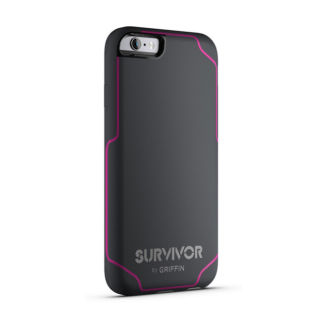 Чехол Griffin Survivor Journey Grey/Dark Pink для iPhone 6/6s Plus