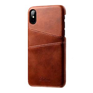 Купить Кожаный чехол с отделениями для карт oneLounge Sutent Brown для iPhone X/XS