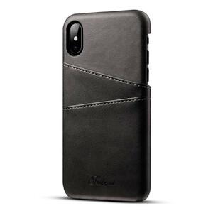 Купить Кожаный чехол с отделениями для карт Sutent Black для iPhone X
